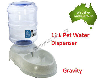 11L Pet Dog Cat Bowl Water Dispenser Feeder Dish Bottle Automatic Drinking Large
