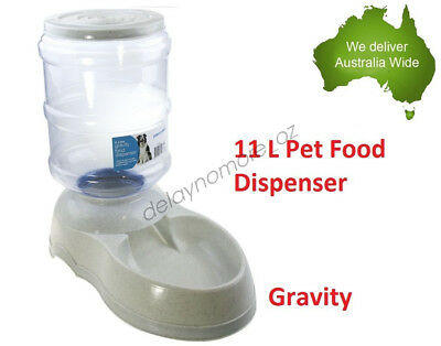 11 L Pet Dog Cat Bowl Food Dispenser Feeder Dish Bottle Automatic Drinking NEW