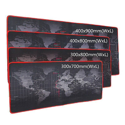 Mouse Pad Mat Large World Map Non-Slip Laptop Computer Desktop 900*400*2mm/3mm