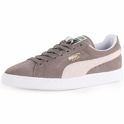 Puma Men s Suede Classic Sneaker Plus Steeple Grey White Shoes 35263466 New c8f704502
