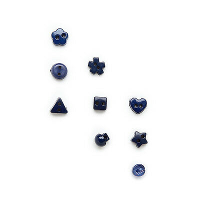 100pcs Dark Blue Mixed 2 hole Resin buttons Decor Sewing Scrapbooking 6mm