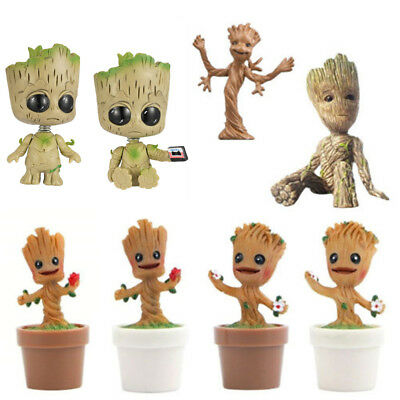 Cute Guardians of the Galaxy Baby Groot Gift Vinyl Qute Figure Figurine Doll Toy