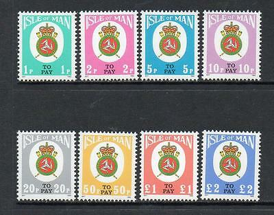 Isle Of Man Mnh 1982 D17-D24 Postage Dues