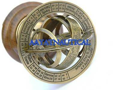 6 Inch Solid Brass Demonstrational Armillary Sphere Nice Gift