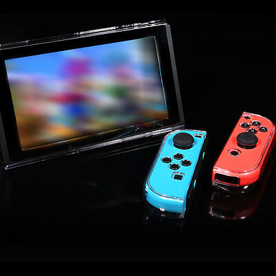 Transparent Protective Hard Case Cover Shell Skin For Nintendo Switch & Joy-Con