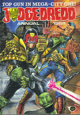 Judge Dredd Annual 1989 - Fleetway 1988 - Not Price Clipped - Very Good Cond