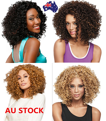 Afro Wig Adult Short Wavy Curly Hair Clown Wig Fancy Dress Cosplay Party Costume