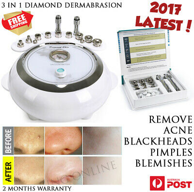 New 3 in 1 Diamond Dermabrasion Microdermabrasion Facial Skin Beauty Care Device