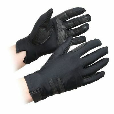 SHIRES KELSALL COMPETITION GLOVES ADULTS BLACK 874 horse rider grip GLOVES
