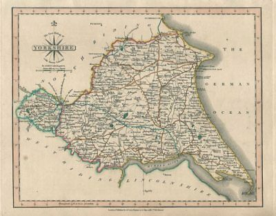 YORKSHIRE EAST RIDING & Ainsty Liberty antique map. JOHN CARY. Coloured 1793