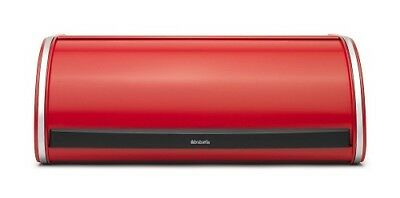 Brabantia Roll Top Bread Bin Passion Red 10 Year Guarantee Large Capacity