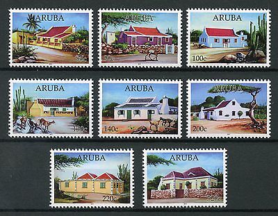 Aruba 2017 MNH Typical Houses 8v Set Trees Goats Architecture Stamps