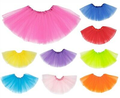 Ladies Petticoat Tutu Skirt 80S Neon Fancy Dress Dance Costume Hen Party Ballet