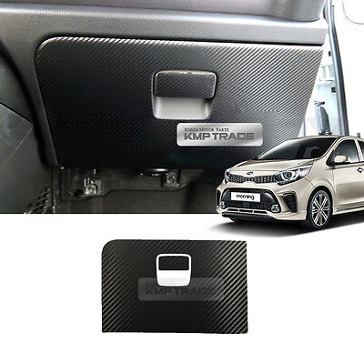 Carbon Front Glove Box Cover Anti Scratch Sticker for KIA 17-18 Picanto Morning