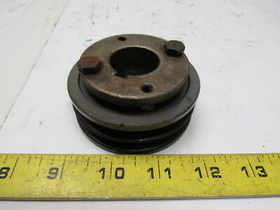 "Browning 2H3V31 Cast Iron Pulley Sheave 2 Groove Split Taper 1-1/8"" Bore"