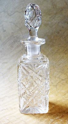Antique 19th Century 14.5cm Tall Cut Crystal Bottle- Minor Flaw
