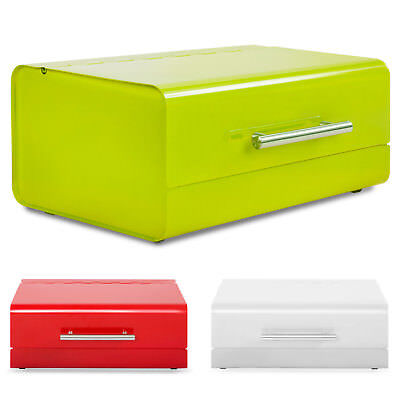 Bread Bin Kitchen Storage Food Box Stainless Steel Roll Loaf Container