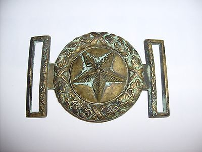 Us Civil War Era Confederate Texas 2 Piece Belt Buckle