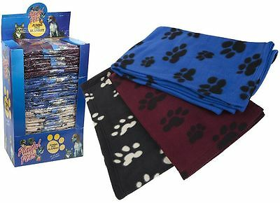 EXTRA LARGE SOFT COSY WARM FLEECE PET DOG CAT ANIMAL BLANKET THROW 115 x 100cm