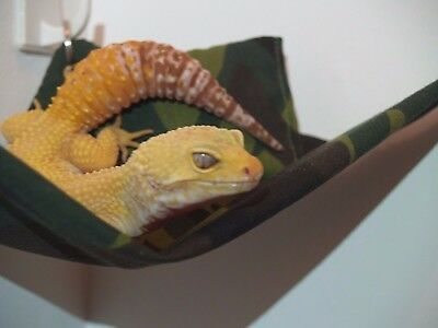 Leopard Gecko Hammock Hamster Gerbil Pet Reptile Lizard Accessories Bed Crested