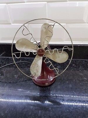 Vintage Siemens art deco electric fan for restoration