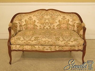 28988: French Louis XV Style Loveseat Settee w. Down Seat