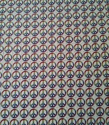 Peace Sign Blotter Art Perforated 225 Square Psychedelic ON SALE !!!