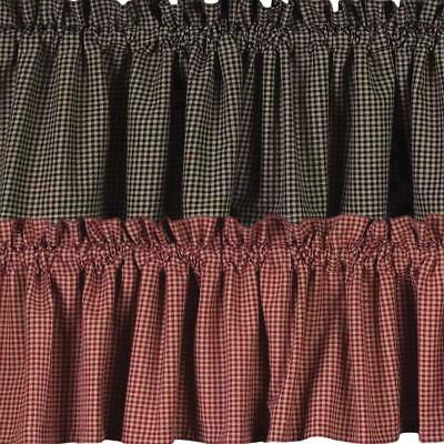 Newbury Gingham Valance Red or Black