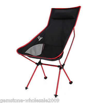 Fishing Camping Chair Seat Cup Holder Beach Picnic Outdoor Portable Folding GW