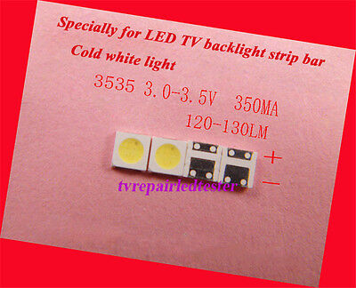 100Pcs 3535 SMD lamp beads 350mA 1W for LED TV Backlight Strip Bar Repair