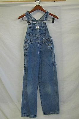 Vintage CALVIN KLEIN Denim Bib Overalls Youth Size Small  Inseam 24""