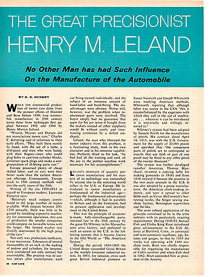 1965 Henry M. Leland ~ Original 9-Page Article / Ad