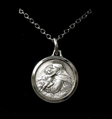 St Saint Anthony Of Padua Medal Necklace Pendant - Gift Boxed