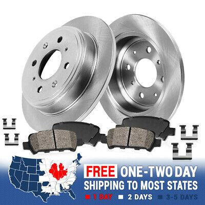 530i 2004-2007 Pads /& Sensor Fit BMW 525i 528i 2008-2010 Rear Brake Rotors