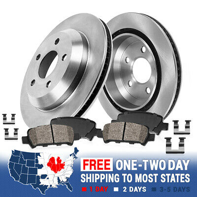 2001 2002 2003 BMW 540i OE Replacement Rotors w//Ceramic Pads R
