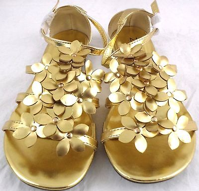 Shoe Wholesale Lot of 12 Zaif By Shalimar Women' Gold Flat Sandals Size 5