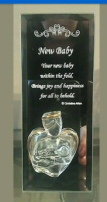 NEW & BOXED. Baby Christening gifts - Crystal with 22 carat gold plated