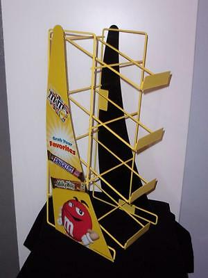 New in Box Mars M&M 4 Tier Metal Counter Top Candy Rack Advertising Display