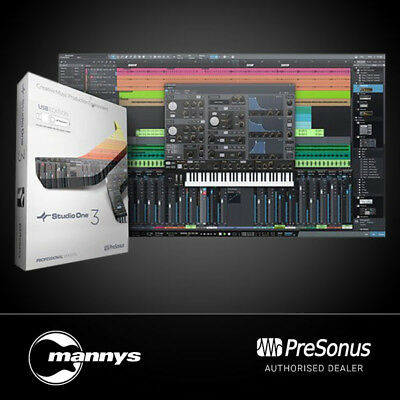 PreSonus Studio One 3 Pro Professional Audio Software Incl. Box & USB Key