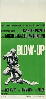 BLOW UP Italian 1967 Extr. Rare 1st release movie poster Michelangelo Antonioni