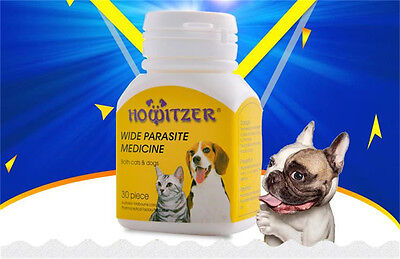HOWITZER 30 tabs, Cat&Dog Worming tablets - Wormer, Dewormer Panacur Canine