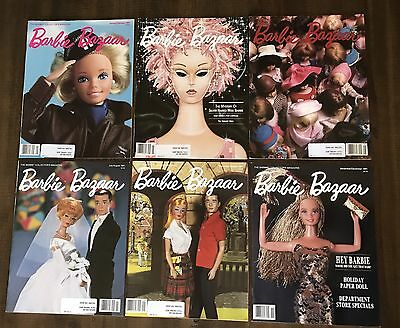 1991 Complete Set Of Barbie Bazaar Magazine The Barbie Collector's Magazine