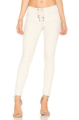 Blank NYC Lace-Up Crop Skinny Jeans