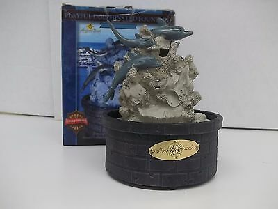Newport Coast Playful Dolphins LED Fountain Collector Series - Used