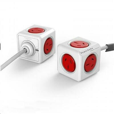 ALLOCACOC 5320RD/AUEXPC 1.5m Red PowerCube Extended SURGE protector AU/NZ