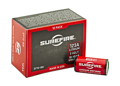 SureFire SF12-BB | Box of 12 Pack CR123A Lithium Batteries
