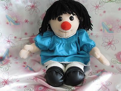 """18"""" Big Comfy Couch Corp 1995 Molly Doll Original Blue Dress Plush Stuffed Toy"""