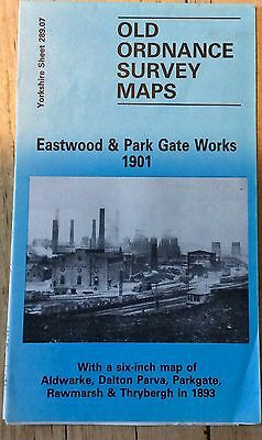 Reprint Of 1901 O.s. Map Of Eastwood And Park Gate Works - Rotherham