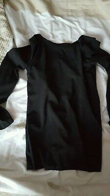Ladies see through black shirt split back size s new for Shirts with see through backs
