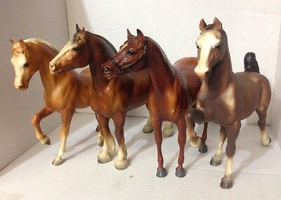 Vintage Breyer Horse Lot of 4 - Great Diverse Lot!